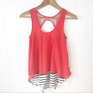 Anthropologie Deletta•Cutout back tank top